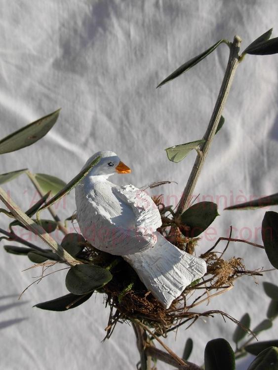 colombe sur rameau d´olivier pour journée de la paix